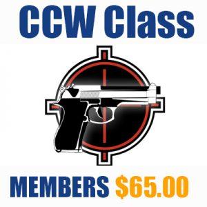 CCW Class (Member's Pricing)