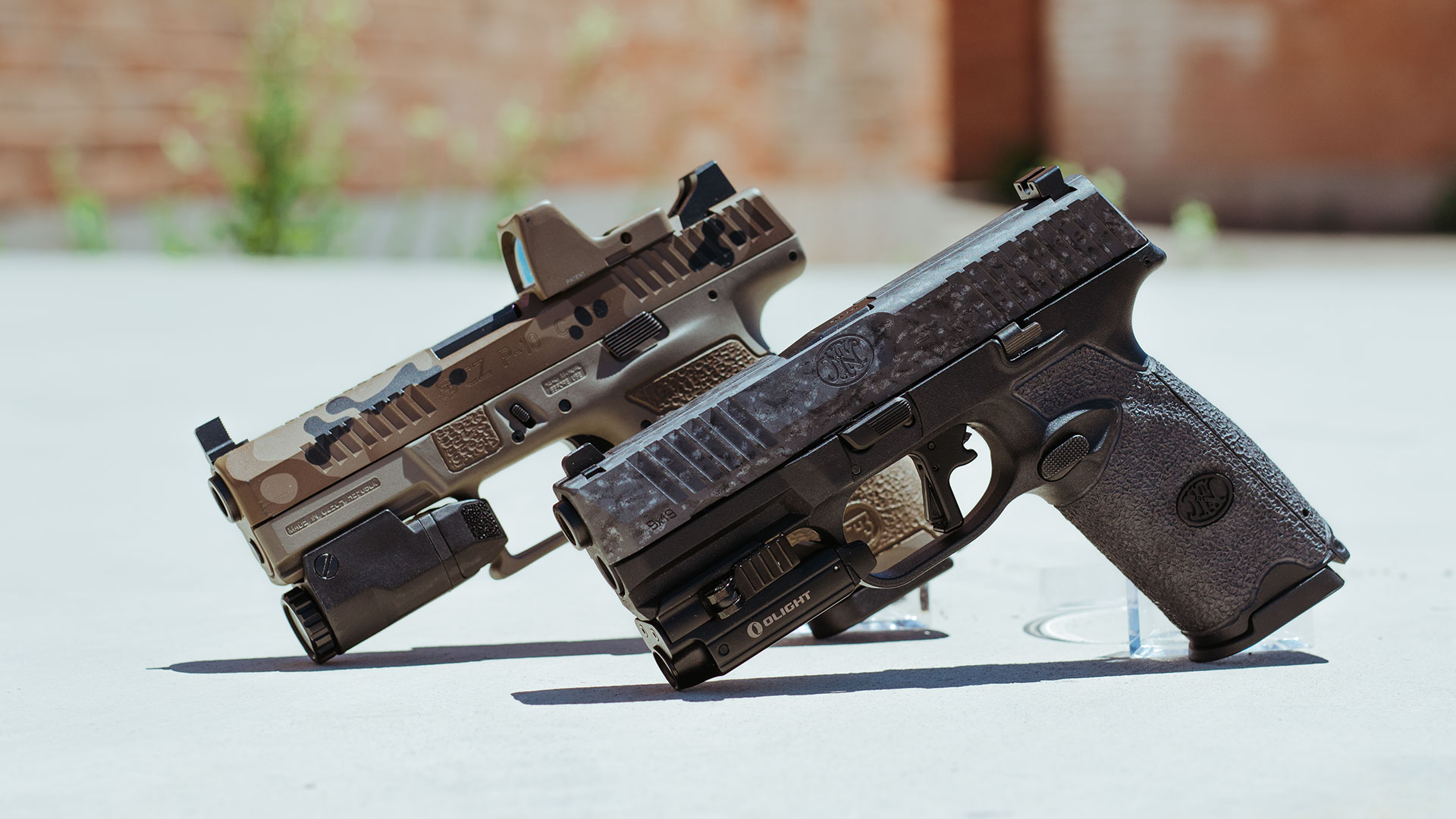 Two tactical guns