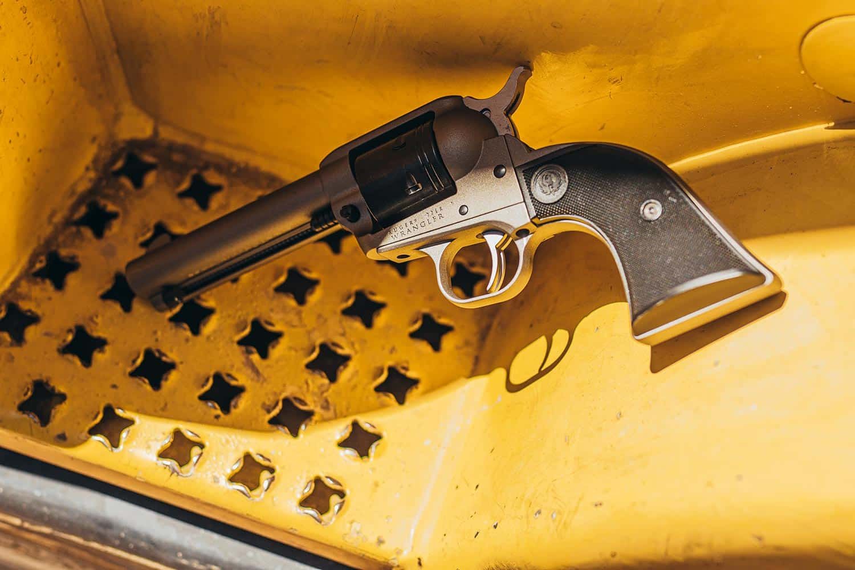 A Ruger Wrangler revolver