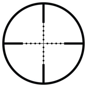 A mil-dot scope reticle